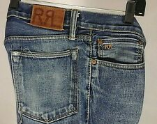 RALPH LAUREN  RR Double R Mens Jeans Classic Fit Tapered Blue Denim 32X 34 RARE