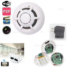 Wireless HD 720P Smoke Detector Motion DVR WiFi IP Security Camera Video Nanny
