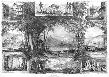 Mosel, Sammelblatt, Cochem, Bernkastel, Enkirch u.a., Riesen-Holzstich ca. 1880