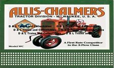 Reproduction of Lionel Billboard Allis Chalmers Model WC Tractor