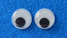 10 Wackelaugen (5 Paar) - 14 mm rund - zum Basteln