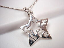 Ethnic Markings Star Necklace 925 Sterling Silver Corona Sun Jewelry