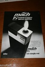 AB25=1972=BRAUN MACH ACCENDINO LIGHTER=PUBBLICITA'=ADVERTISING=WERBUNG=
