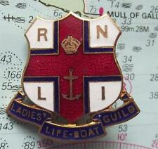c1960 RNLI Ladies Lifeboat Guild Enamel Badge by Caxton Nameplate Co Westminster