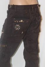 100% AUTHENTIC NEW MEN'S ROBIN'S JEAN SZ 32 CARGO MILITARY BROWN CONVERTIBLE