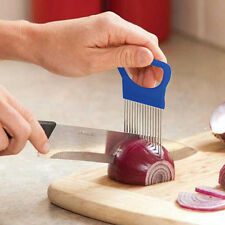 Onion Holder Slicer Vegetable Tools Tomato Cutter Stainless Steel Kitchen New