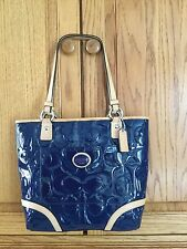 Genuine Coach Embossed Patent Leather Tote F22322 $378