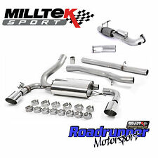 "Milltek Focus RS MK3 Turbo Back Exhaust System & DeCat Downpipe 3"" NonRes Polish"