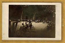 Carte Photo vintage RPPC course de vélos entre enfants à localiser ph0137