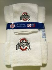 Ohio State Buckeyes University 3pc College Bath Towel Set by Northwest Co.