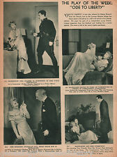 """Stage Play Review of """"Ode To Liberty"""" 1935"""