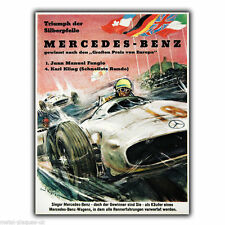 MERCEDES-BENZ RACING Vintage Retro Advert METAL WALL SIGN PLAQUE poster print