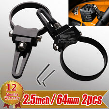 "2x 2.5"" inch 64mm Bull Bar Roll Cage Tude Mount Bracket Clamps for LED HID Light"
