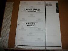 EVINRUDE OUTBOARD MOTOR BOAT ENGINE 2001 PARTS 4 - STROKE 8 MODELS MODELS