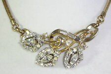 CROWN TRIFARI PHILIPPE 1953 AD PC FLIRTATION PAT PEND 170368 Rhinestone Necklace