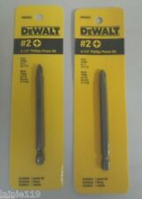 "2 X DEWALT #2 Phillips 3-1/2"" Driver Bit Tips, 1/4"" Hex Shank, DW2032"