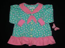 """Gymboree girls vintage """"GINGERBREAD & HEARTS"""" 6-12mth top...ls green/pink..RARE"""