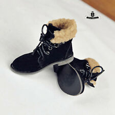 MSD 1/4 BJD Shoes Dollfie DOD Black Nubuck leather Boots MID SOOM AOD Dollmore