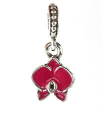 925 Silver Charm Beads Flowers Pendant Fit sterling Bracelet Necklace Chain HH69