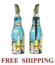 CORONA EXTRA LIGHT MACAW PARROT 2 BEER BOTTLE KOOZIE COOLIE COOLERS HUGGIE NEW