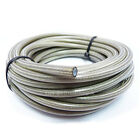 "AN-6 5/16"" 8MM CLEAR PVC Stainless Braided TEFLON PTFE Brake Hose Pipe 1/2 Metre"