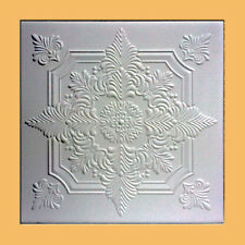 100 pc (269 sq.ft lot of NOVARA White Decorative Ceiling Tile - ON SALE