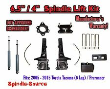 "2005 - 2016 Toyota Tacoma 6 Lug / Prerunner 6.5"" / 4"" Lift Kit Spindles + SHOCKS"