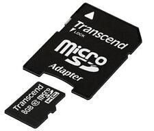 8GB Micro SDHC Class 10 + SD SDHC Adapter Transcend 8 GB bis zu 20MB/s Lesen