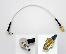CRC9 to female SMA socket antenna connector adapter cable for 3G huawei modem
