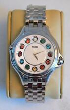 Fendi Crazy Carats Stainless Steel Rotating Gemstones Watch 38mm