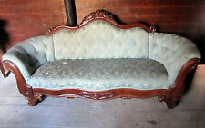 Beautiful Antique Victorian upholstered walnut sofa, excellent solid condition