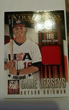 2013 Donruss Elite Extra Edition Bryson Brigman USA Game Jersey Patch Relic /49