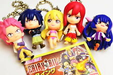 Bandai Fairy Tail Petit Figure Swing Ball Chain Mascot Part1 Completed Set 5pcs