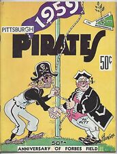 1959 Baseball Yearbook Pittsburgh Pirates, Roberto Clemente, Ted Kluszewski