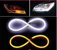 2x 60cm LED DRL Tube Light Strips Switchback White/Amber Sequential Turn Signals