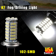 Vehicle Car H7 Xenon White 102-SMD LED Headlight Bulb Fog Light Lamp US Ship 12V