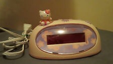 Hello Kitty Digital Plastic Alarm Clock Bright 0.6 inch Red LED Display KT3005P