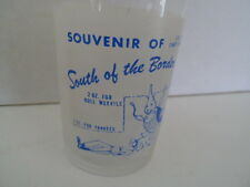 Federal South Of The Border Souvenir Tall Shot Glass Yankee Rebel Vtg