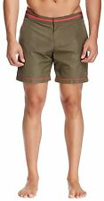 PARKE & RONEN Corfu Army Taffeta Swim Shorts Trunks  Size 33 NWT
