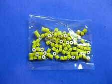 100 Silicone Skirt CHARTREUSE Collars Lure Making Craft Bass Jig Spinner Bait