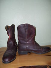 Ariat Brown Leather Western Roper Cowboy Work Rancher Boots Mens 11.5 34185