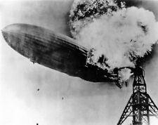 New 8x10 Photo: Ill-Fated German Zeppelin LZ 129 'Hindenberg' Explosion