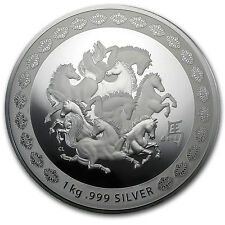 2014 Australia 1 kilo Silver Year of the Horse Proof-Like - SKU #78412