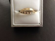 9ct Gold eternity style band ring set with CZ stones size N