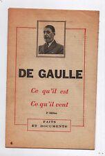De Gaulle ce qu'il est, ce qu'il veut. Parti Communiste 1958 De Gaulle faciste !