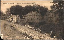 cartolina MONTECASSINO avanzi di mura ciclopiche