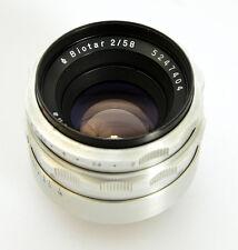 BIOTAR 2/58 m42 Carl Zeiss Jena (SSB) * ALU * 10 lamelle f/2 58mm (6597)