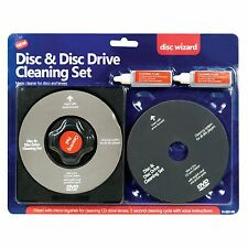 CD DVD DISC AND DISC DRIVE CLEANING SET CD REPAIR KIT