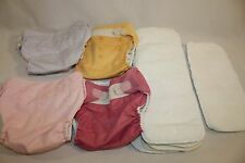 Infant Toddler Bum Genius Baby Washable Re-Usable Cloth Nappy Diapers Lot 4