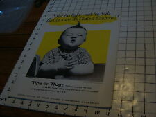 Vintage Poster: CHASE & SANBORN COFFEE: constance Bannister photo BABY #7